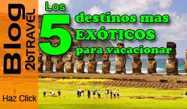 Los 5 destinos mas visitados.